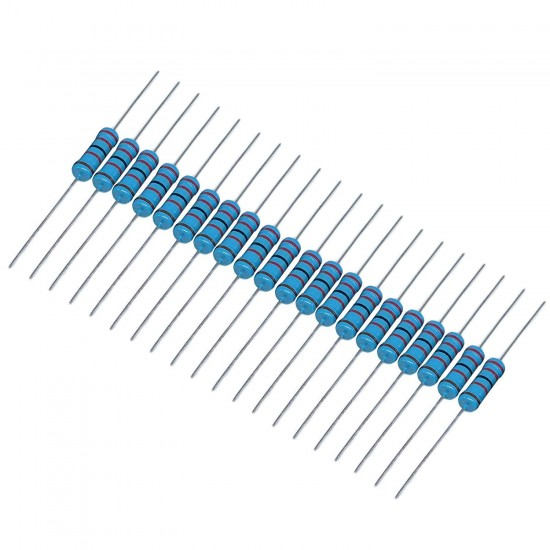 1/4W Metal Film Resistors for DIY Electronic Projects (Pack of 20)
