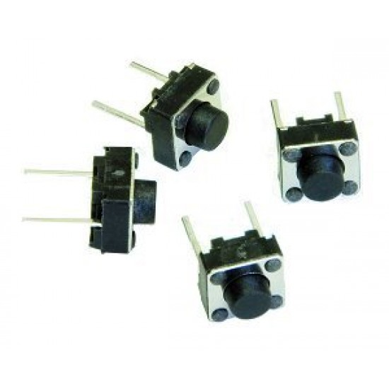 2 Pin Tactile Switch micro - Push to ON button (Pack of 10)