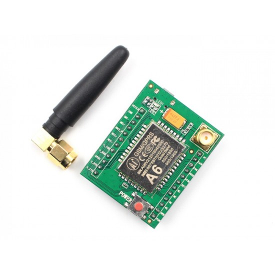 A6 GSM GPRS Module Quad Band SMS Voice with Antenna