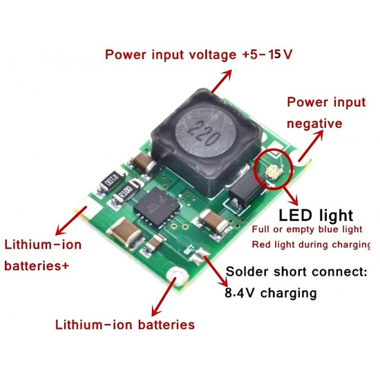 TP5100 2A Lithium Ion 18650 Battery Charger Module
