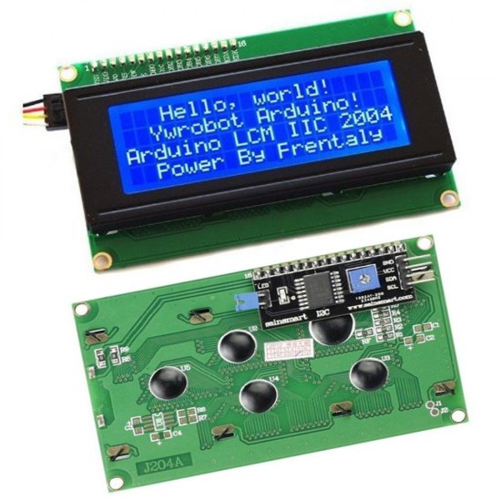 20X4 LCD2004 Display with I2C Interface Module